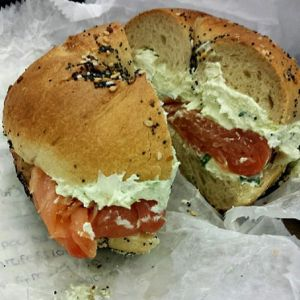 Lox bagel from Ess-A Bagel (image credit: Sherry Hsieh)