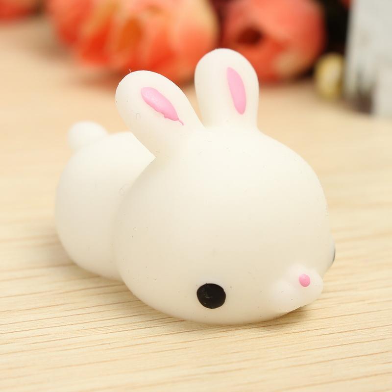 Cute White Rabbit Wallpapers For Desktop Mochi Bunny Rabbit Squishy Squeeze Cute Healing Toy Kawaii