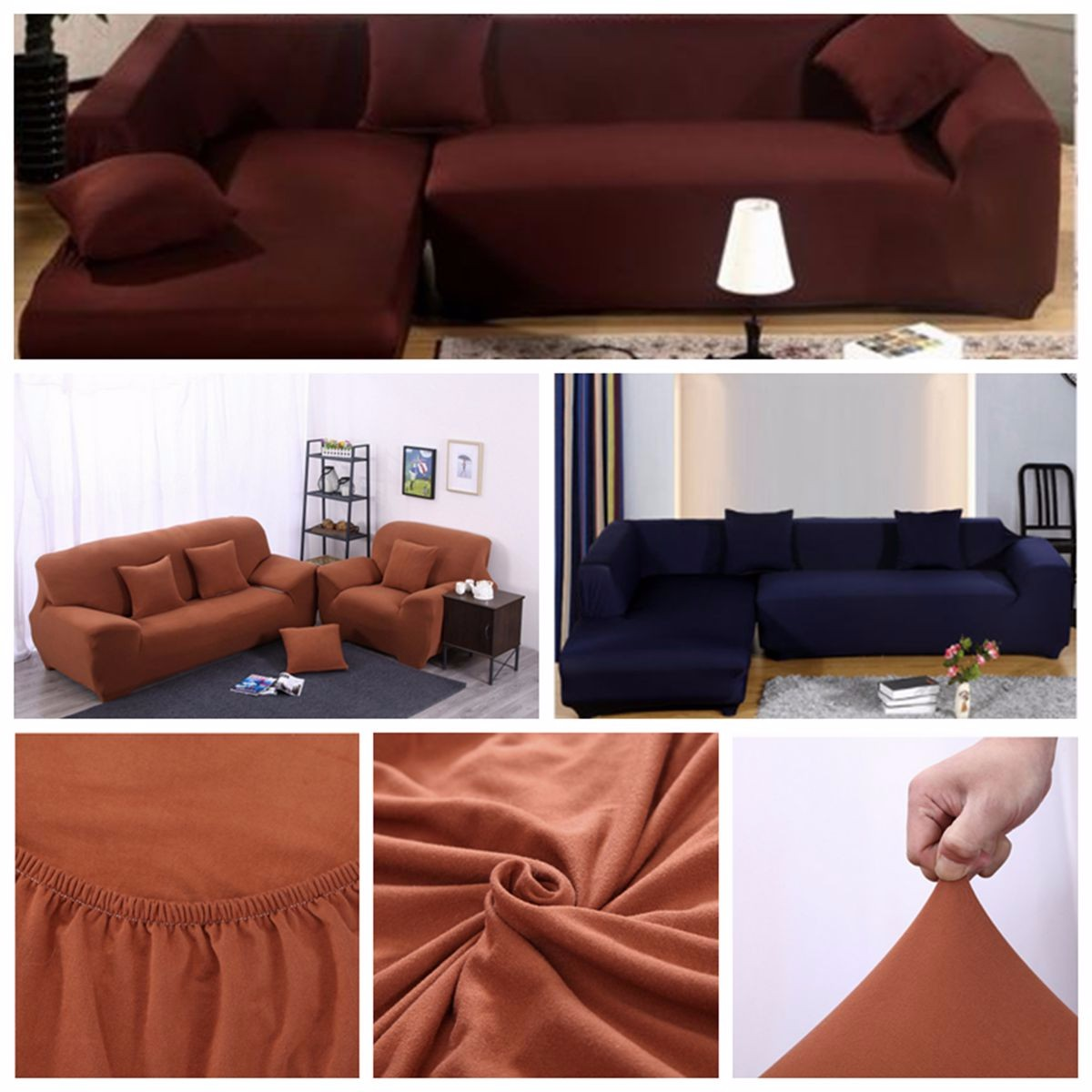 Sofa L 2 X 2 L Shape 2 3 Seats Stretch Elastic Fabric Sofa Cover Pet Dog Sectional Slipcover Furniture Protector