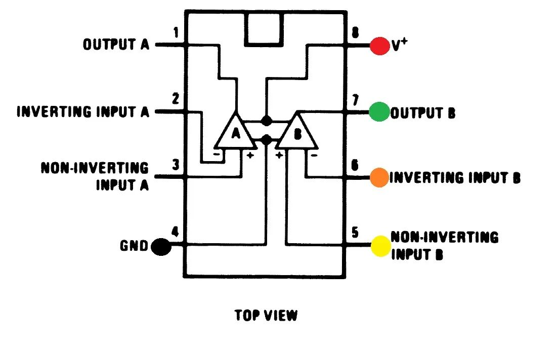 schematic with battery resistor and led