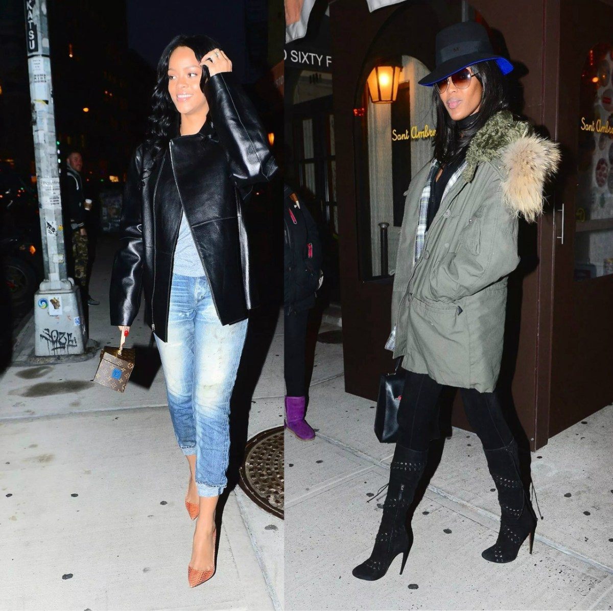 {Out & About} RIHANNA & NAOMI CAMPBELL Have Dinner In NYC