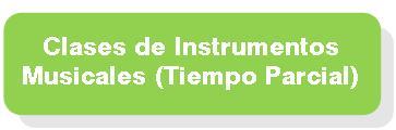 Clases de Instrumentos Tiempo parcial