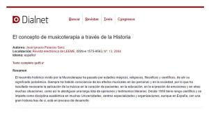 El concepto de musicoterapia a través de la Historia