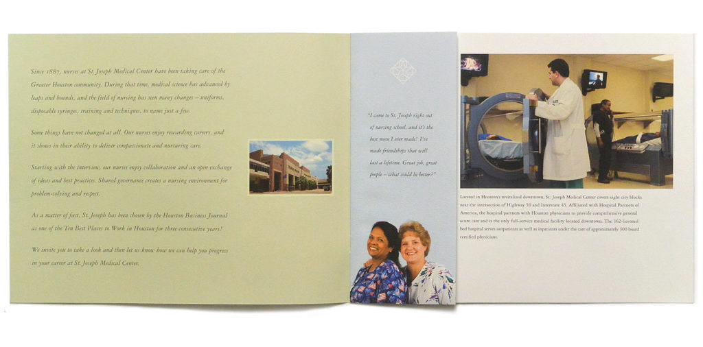 St Joseph Nurse Recruiting Brochure - Otis Creative