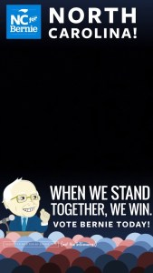Snapchat Filters - Bernie Sanders When We Stand Together We Win Snapchat Geofilter