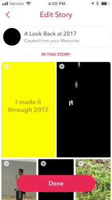 How to Save The A Look Back At 2017 Snapchat Story On Your Camera Roll