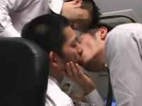 仕事中の部下で性欲処理するゲイサラリーマンの卑猥な残業
