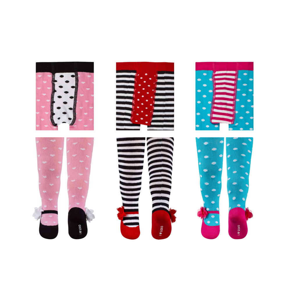 Baby Strumpfhosen Set Soxo Infant Tights With Pretty Patterns Tights Babies Tights