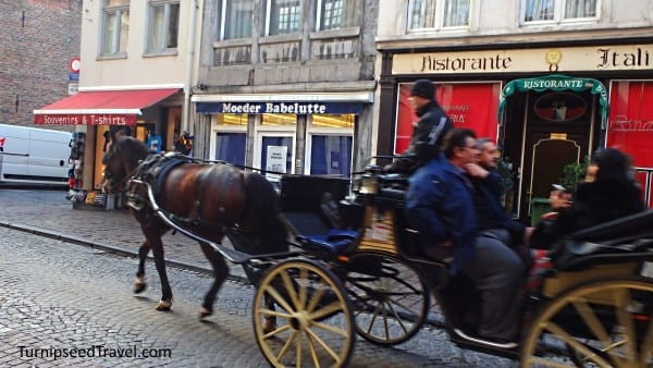 Horsedrawn carriage in Bruges