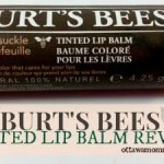 Burts Bees Tinted Lip Balm Review