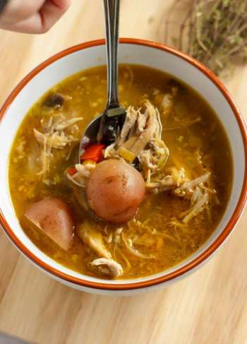 Homemade-Turkey-Soup-with-Creamer-Potatoes-5