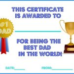 Father's Day Printable Certificates for Dad, Grandpa and Uncle!