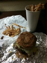 Five Guys Burgers and Fries Bacon Cheeseburger