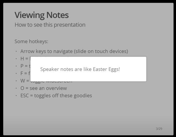 Speaker Note