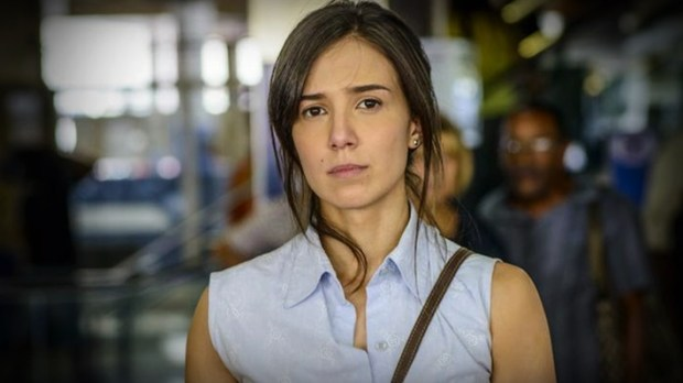 A atriz voltou a gravar a novela