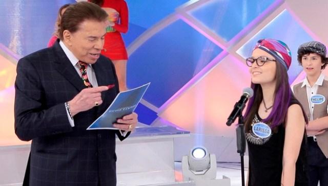 """Larissa Manoela durante participação no """"Programa Silvio Santos"""" (Foto: Lourival Ribeiro/SBT)"""