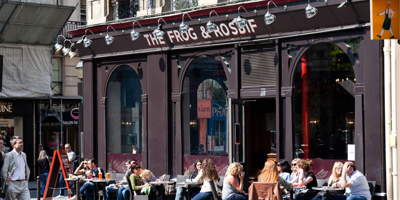 Terrasse Brasserie Brunch The Frog & Rosbif (75002 Paris) - Oubruncher