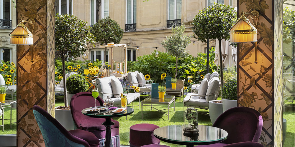Restaurant Terrasse Paris Brunch Hôtel Barrière Le Fouquet's (75008 Paris) - Oubruncher