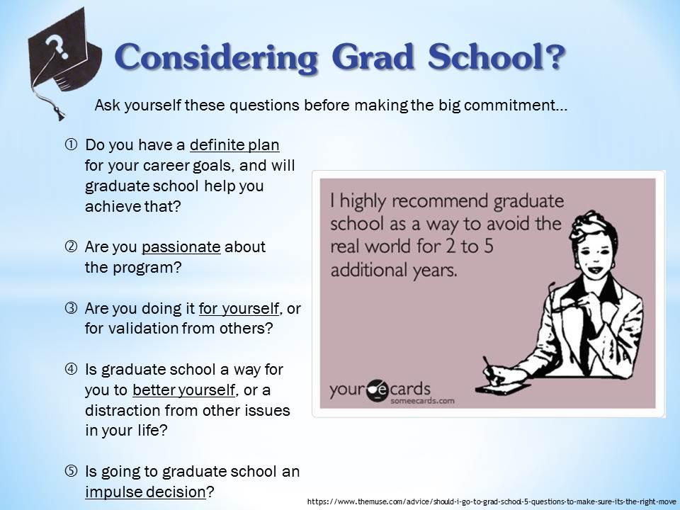 Considering Grad School? Oakland University Career Services