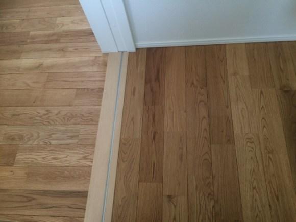 2階トイレの床は撥水性の高いものに
