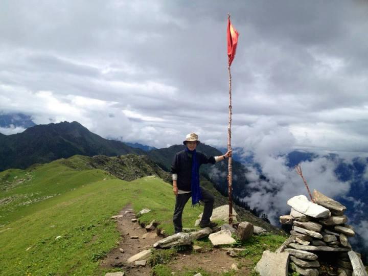 雲の位置におどろいた、ヒマラヤ山脈