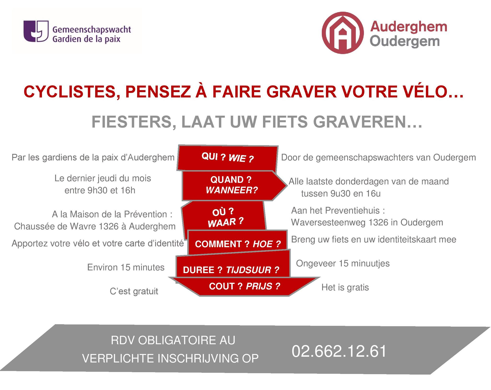 Prevention-maison.fr Oudergem Be Graveren Van Fietsen