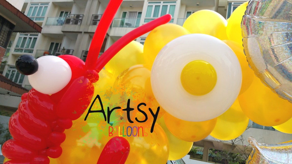 , Food themed balloon arch!, Singapore Balloon Decoration Services - Balloon Workshop and Balloon Sculpting