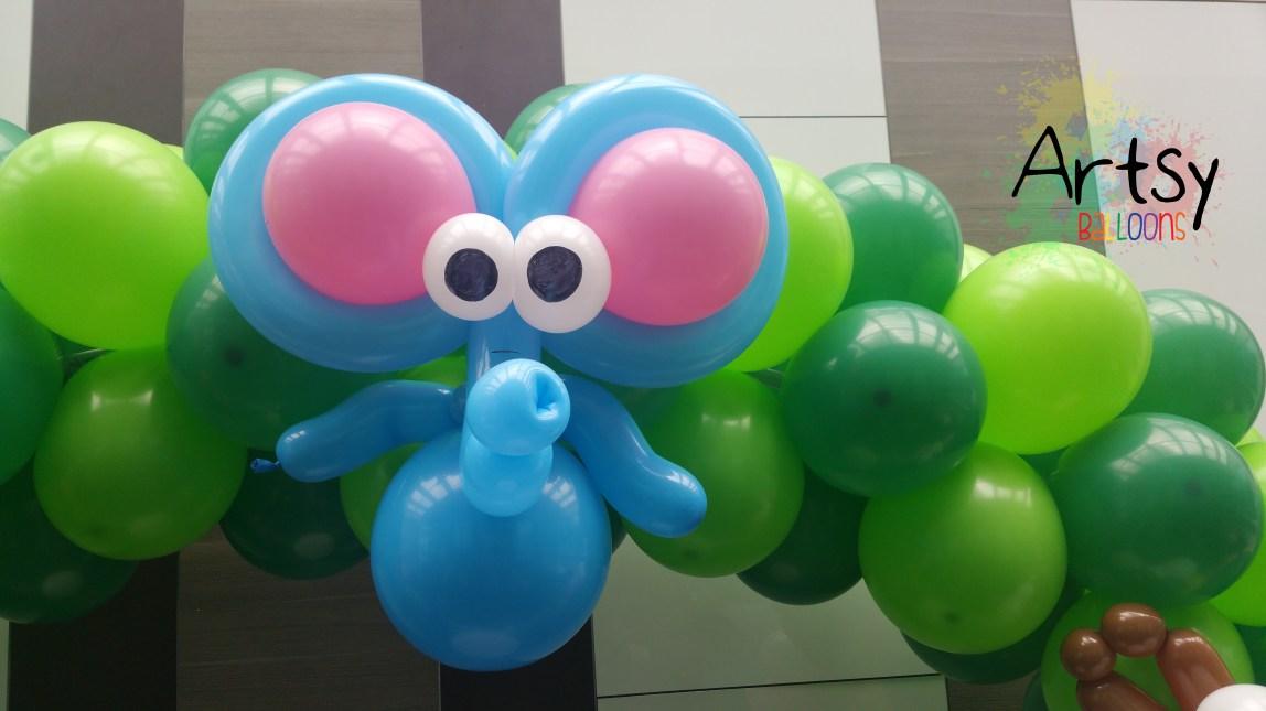 , Simple safari themed balloon arch – Balloon decoration done for Thatballoons, Singapore Balloon Decoration Services - Balloon Workshop and Balloon Sculpting