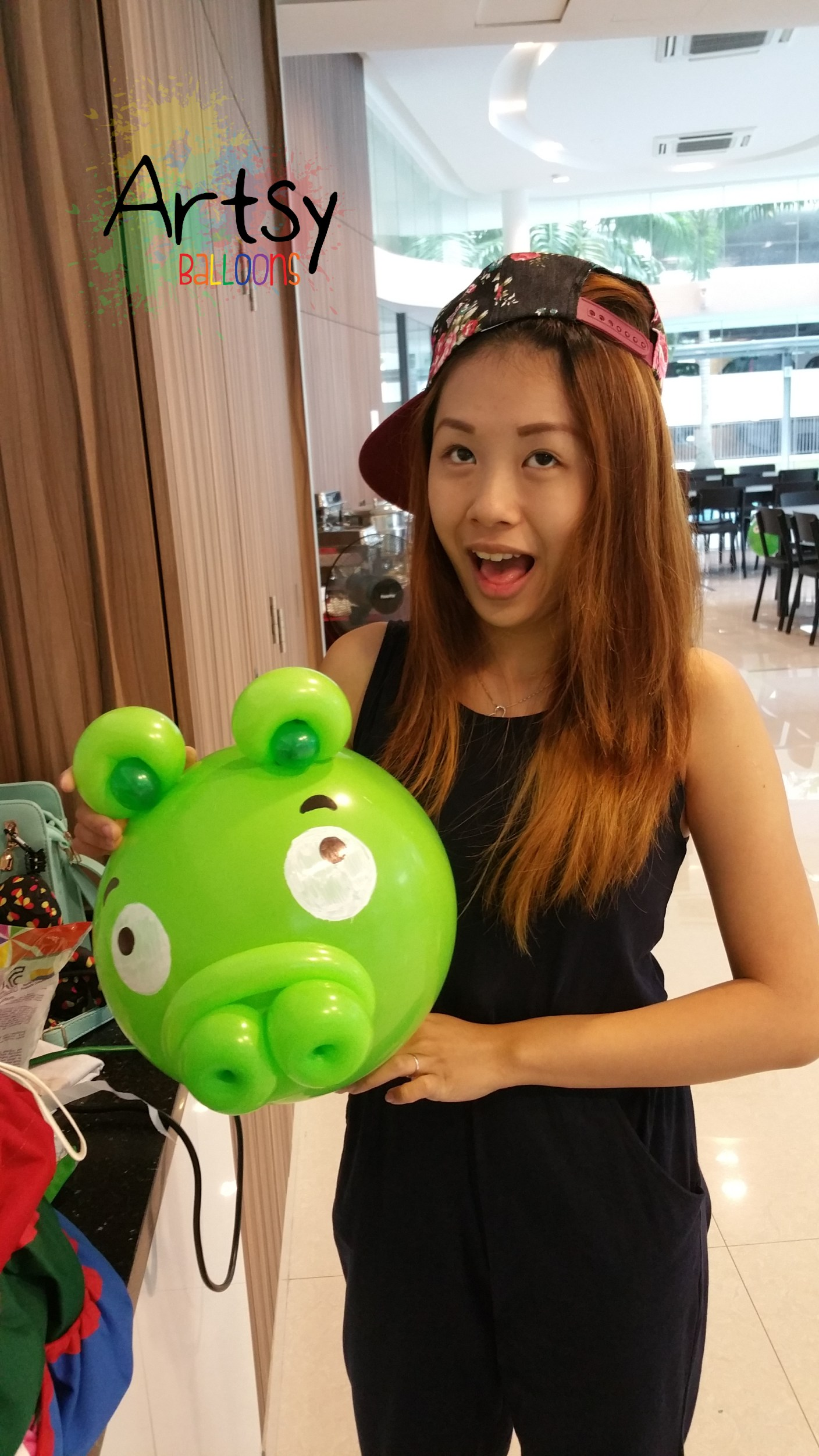 , Minecraft themed balloon sculptures and angry bird balloon decoration!, Singapore Balloon Decoration Services - Balloon Workshop and Balloon Sculpting
