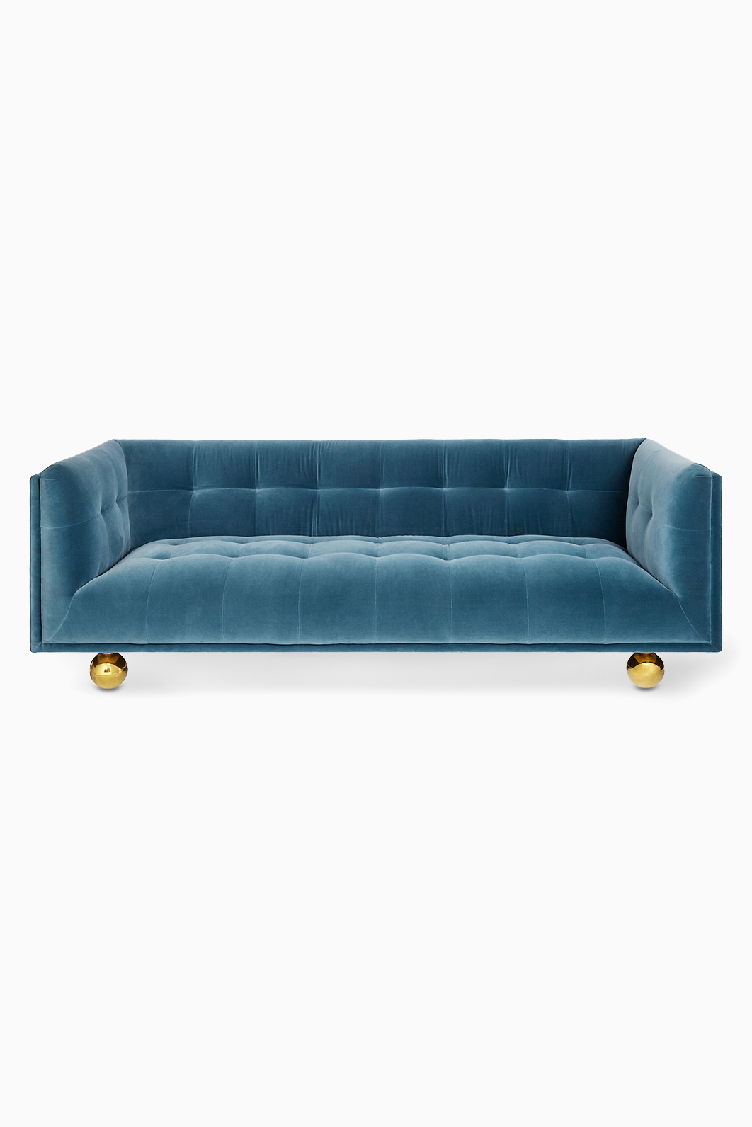 Couch Petrol Shop Jonathan Adler Blue Lisbon Petrol Velvet Claridge Sofa For