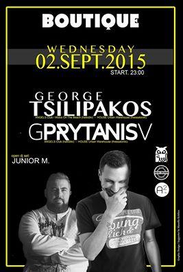 Boutique Bar στην Πτολεμαϊδα: George Tsilipakos & GPrytanisV, την Τετάρτη 2 Σεπτεμβρίου