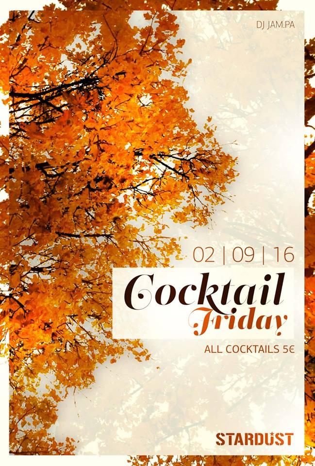 Cocktail Friday @ Stardust All Day Bar στην Καστοριά, 2 Σεπτεμβρίου