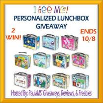 I See Me Personalized Lunchbox #Giveaway