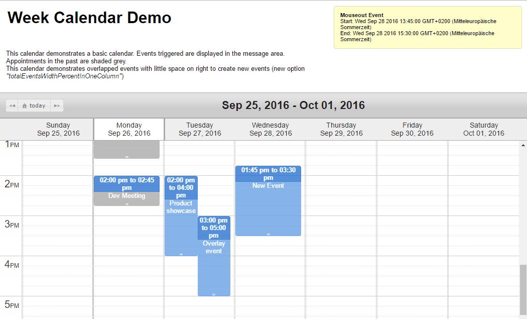 Calendar Template Javascript Smart Exchange Usa Morning Calendar Top 5 Best Jquery Scheduler And Events Calendar For Web