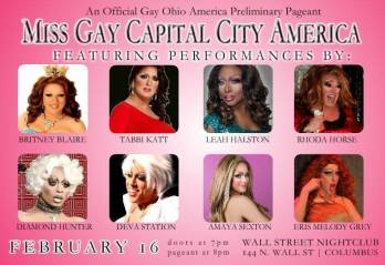 Miss Gay Capital City America 2014 | Wall Street Night Club (Columbus, Ohio) | 2/16/2014