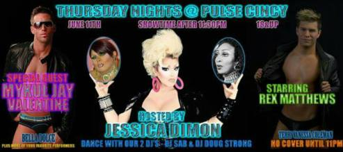 Show Ad | Pulse Nightclub (Cincinnati, Ohio) | 6/11/2015