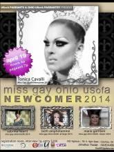 Show Ad | Miss Gay Ohio USofA Newcomer | Axis Night Club (Columbus, Ohio) | 4/19/2014
