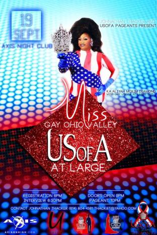 Show Ad | Miss Gay Ohio Valley USofA at Large | Axis Night Club (Columbus, Oho) | 9/19/2016