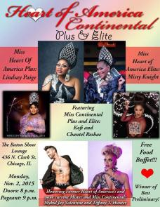 Show Ad | Miss Heart of America Continental Plus & Elite | The Baton Show Lounge (Chicago, Illinois) | 11/2/2015