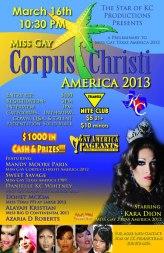 Show Ad | Miss Gay Corpus Christi America | Triangle Nite Club (Corpus Christi, Texas) | 3/16/2013