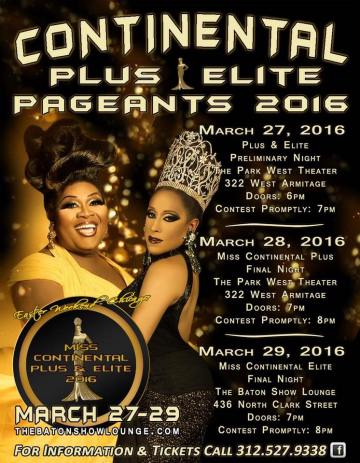 Show Ad | Miss Continental Plus and Elite | Baton Show Lounge (Chicago, Illinois) | 3/27-3/29/2016