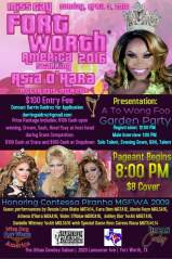 Show Ad | Miss Gay Fort Worth America | The Urban Cowboy Saloon (Fort Worth, Texas) | 4/3/2016