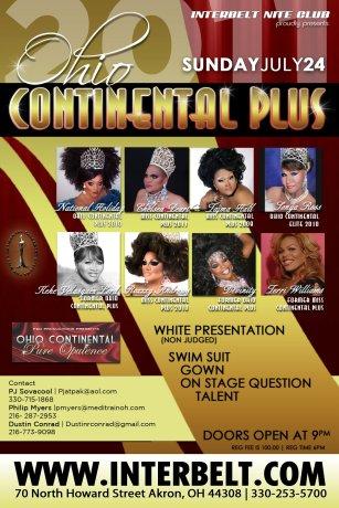 Show Ad | Miss Ohio Continental Plus | Interbelt Nite Club (Akron, Ohio) | 7/24/2011