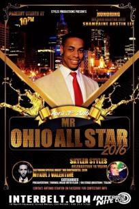 Show Ad | Mr. Ohio All Star | Interbelt Nite Club (Akron, Ohio) | 4/3/2016