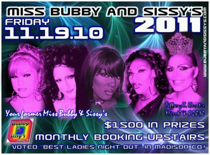 Show Ad | Miss Bubby & Sissy's | Bubby & Sissy's (Alton, Illinois) | 11/19/2010