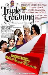 Show Ad | Miss Gay South Central States USofA, USofA Classic and USofA Newcomer | Saint Showbar (San Antonio, Texas) | 2/3/2012