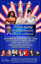 Show Ad | Miss Gay Southernmost USofA and Classic | San Carlos Institute (Key West, Florida) | 1/30/2016