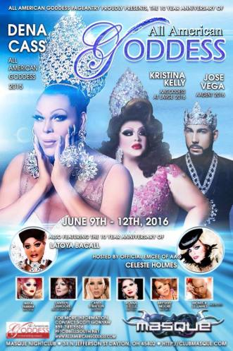 Show Ad   All American Goddess   Masque (Dayton, Ohio)   6/9-6/12/2016