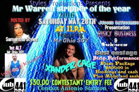 Show Ad | Mr. Warren Stripper of the Year | Club 441 (Warren, Ohio) | 5/28/2016