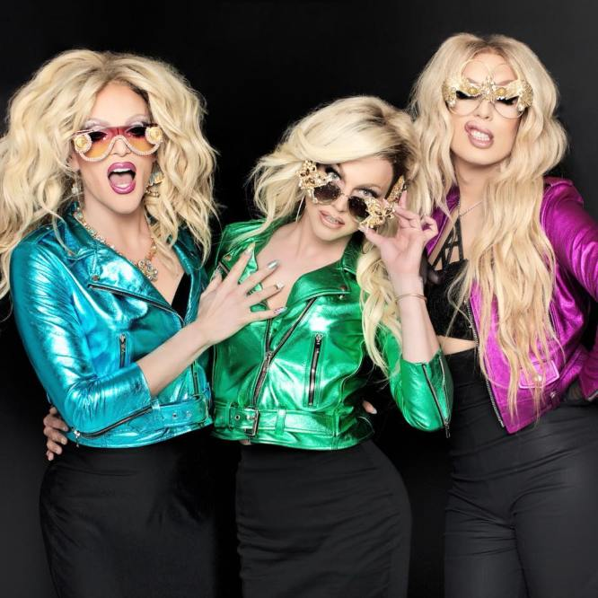 Willam Belli, Courtney Act and Alaska Thunderfuck - Photo by Magnus Hastings